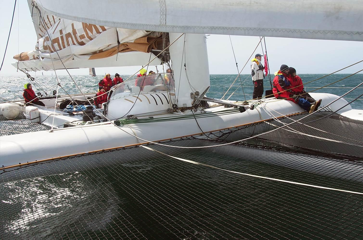 Découvrez la navigation à bord d'un maxi catamaran de course © CHALLENGE OCEAN