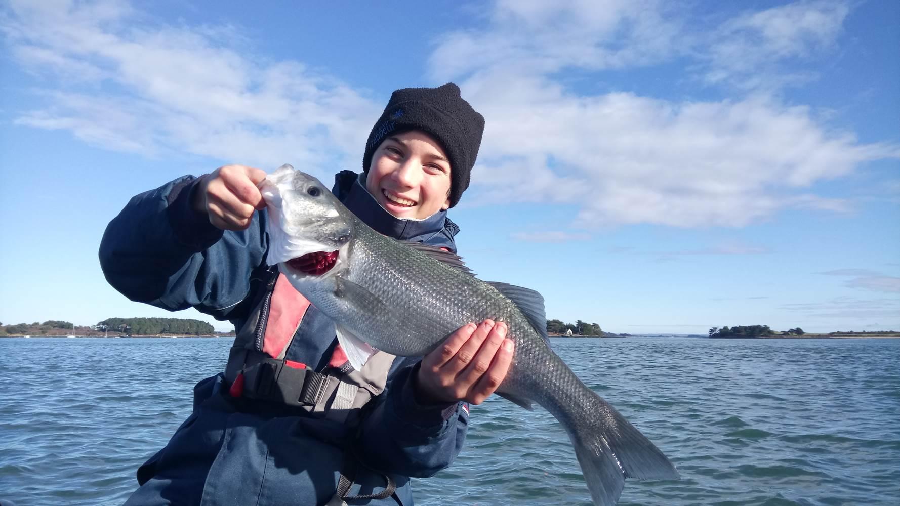 Le sourire de François-Xavier en dit long sur son état d'esprit lors de sa sortie pêche en mer ©