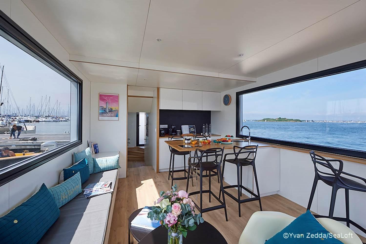 cabine 3 personnes - Lodge boat Lorient ©