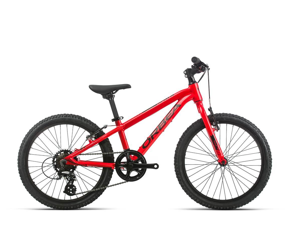 Vélo enfant ORBEA MX20 rouge, pour enfants entre 115cm-135cm (5 - 8 ans) ©