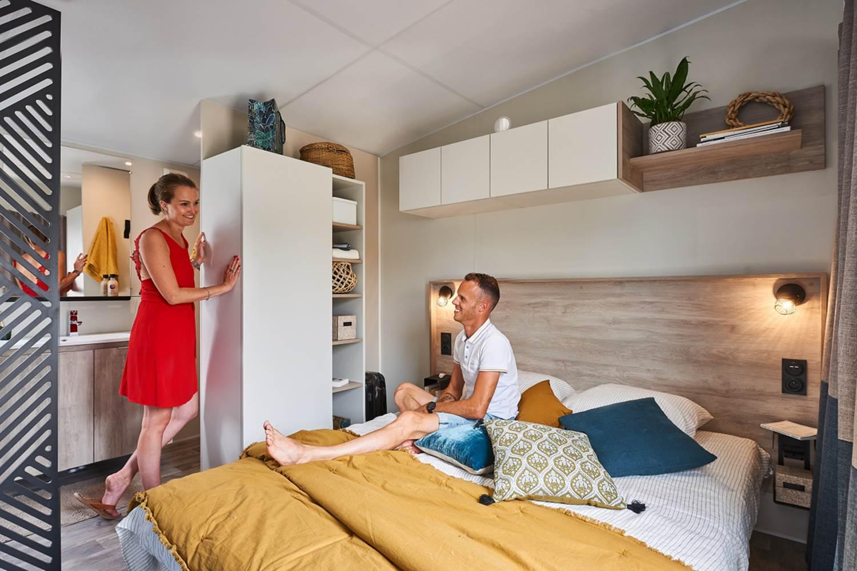 Mobil Home PREMIUM ATLANTIQUE SPA PRIVATIF. 2 chambres (dont 1 suite parental) / 2 salle de bain ©
