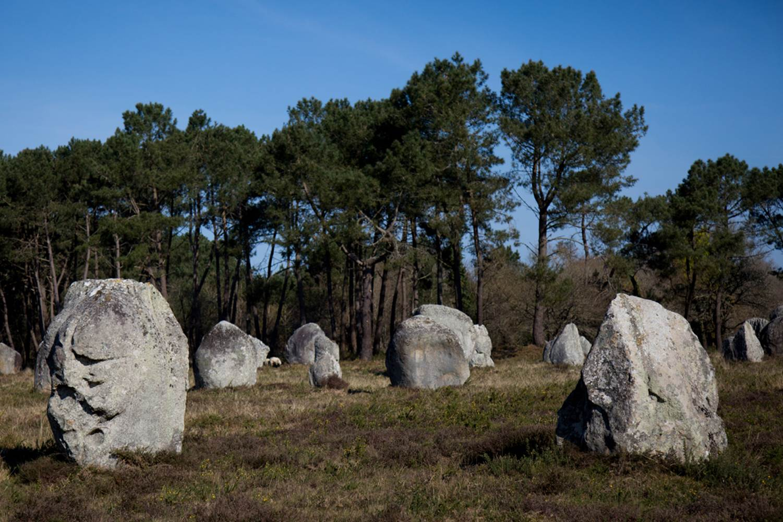 Vue-menhirs-Petit-train-touristique-Carnac-Morbihan-Bretagne-Sud © Le Bayon