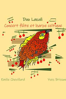 Duo LAZULI -Flute et Harpe celtique- avec Yves Brisson et Emilie Chevillard à l'Abbaye de Rhuys