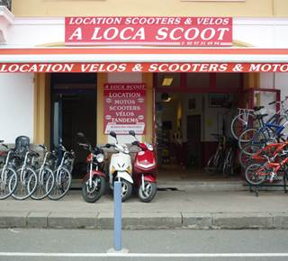 LOCATION DE VELO, SCOOTER, MOTO : A LOCA SCOOT & VELOS
