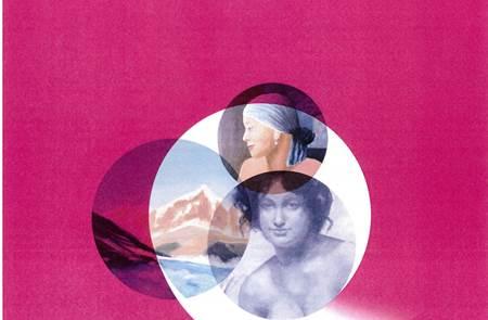 Exposition  de peinture de trois artistes dédiée à octobre rose