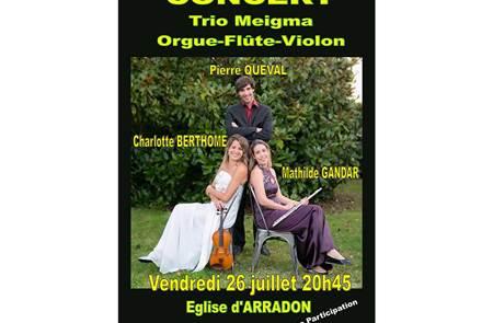 Concert Trio Meigma - Orgue - Flûte - Violon