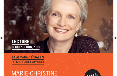 Festival Culturissimo : Marie-Christine Barrault lit La Servante écarlate à Pontivy